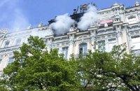На Городецкого в Киеве горело историческое здание (обновлено)