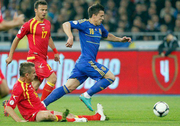 Талант Евгения Коноплянки эксплуатируется в сборной еще однообразнее, чем в «Днепре»: прошел, сместился, пробил