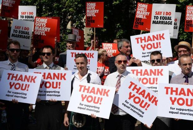 сторонники однолых браков в Великобритании