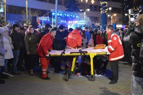 ВИвано-Франковске наоткрытии елки петардой ранило студентку