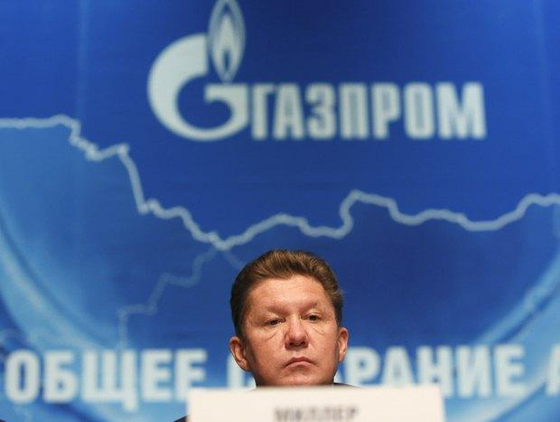 Глава «Газпрома» Алексей Миллер во время ежегодного отчета о деятельности компании