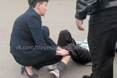 В сети появилось видео ДТП с Савченко