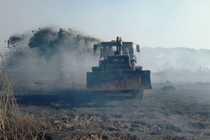 В Киевской области тлеют около 106 га торфяников