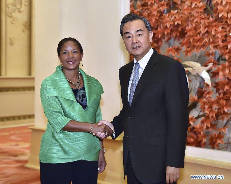 Встреча Сьюзан Райс с министром иностранных дел КНР Ван И в 2015