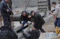 Во время сноса гаражей в центре Киева пострадали журналисты (ДОБАВЛЕНЫ ФОТО)