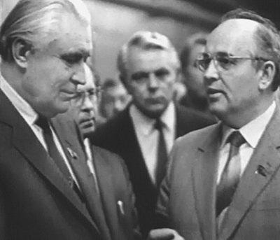 Владимир Щербицкий с Михаилом Горбачевым