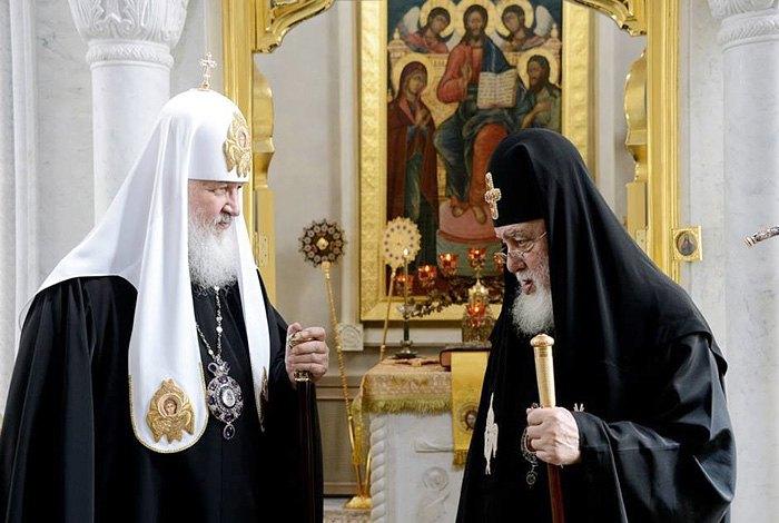 Встреча Католикос-Патриарха всея Грузии Илия и главы РПЦ Кирилла в Москве, 21 ноября 2016.