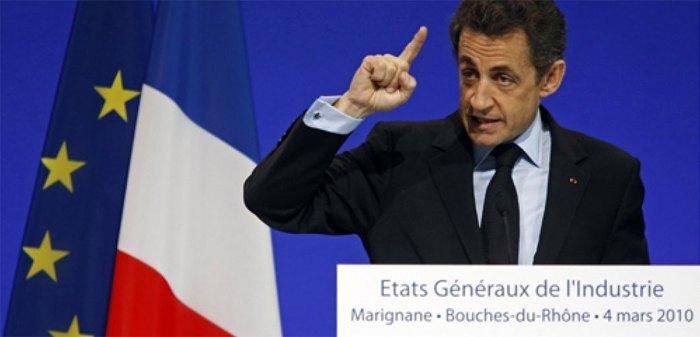 Президент Франции Николя Саркози, Генеральные штаты промышленности, Мариньян, 4 марта 2010 г.