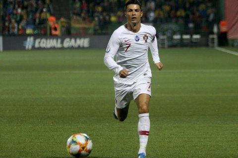 Роналду став найкращим бомбардиром в історії відбіркових турнірів на Євро