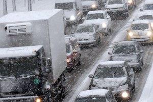 В Киеве образовались многокилометровые пробки