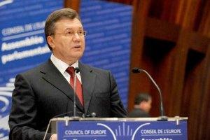 Янукович предостерег ПАСЕ от заполитизированных рекомендаций
