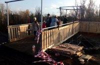 В Станице Луганской завершили строительство временного перехода на мосту