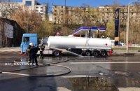 В центре Харькова разлилась цистерна бензина