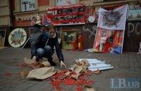 Активисты разгромили офис КПУ