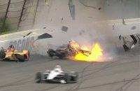 Гонка Indycar в Поконо была приостановлена после серьезной аварии