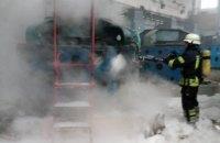 На насосной станции Бортнической станции аэрации произошел пожар