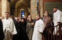 Тимошенко приняла участие в праздничной литургии в Софии Киевской