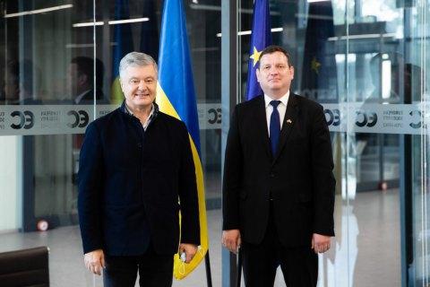 Порошенко встретился с послом Латвии в Украине