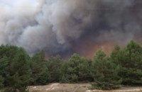 На полигоне под Киевом произошел крупный пожар