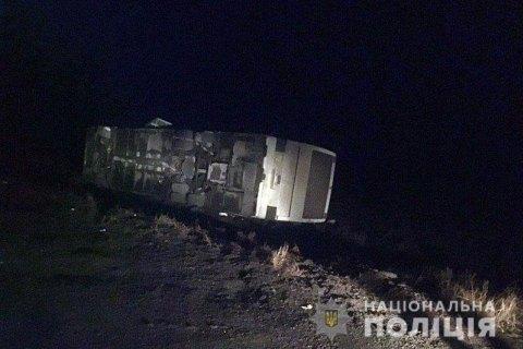 У Донецькій області перекинувся автобус з 50 пасажирами