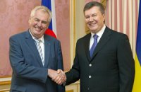 Президент Чехии ожидает визит Януковича