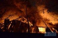 На Шулявке сильный пожар, горит склад (обновлено)