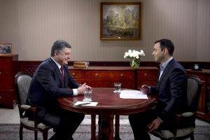 """Порошенко дав інтерв'ю """"Інтеру"""""""