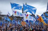 В Шотландии прошла многотысячная демонстрация за независимость от Великобритании