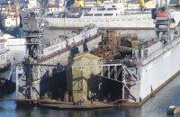 В окупованому Севастополі затонув плавучий док зі списаним підводним човном (оновлено)