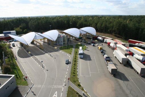 Таможенный пункт <<Дорогуск - Ягодин>> на границе с Польшей