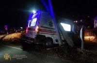 """На Дніпропетровщині зіткнулися маршрутка та """"швидка"""", є 6 постраждалих"""