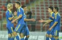 Кравець забив перший гол за Україну