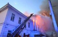 В центре Полтавы сгорело историческое здание, погиб человек (обновлено)
