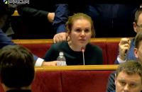 """Депутатка """"Слуги народу"""" розплакалася через ігнорування її правок"""