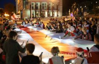 У Києві пройшла акція солідарності з білорусами