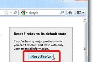 В Firefox добавят кнопку Reset