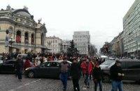 Колонна демонстрантов выдвинулась на Майдан Независимости