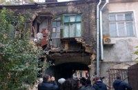 В Одессе обрушилась часть жилого дома