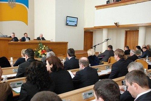 Заседание Кировоградского областного совета