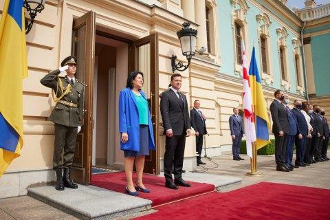 Зеленский провел переговоры с президентом Грузии Саломе Зурабишвили