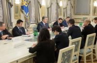 Порошенко провел встречу с главой МИД Франции