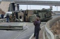 """У Росії перекинулася вантажівка з ракетно-гарматною системою """"Панцир"""""""