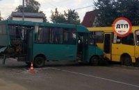 Четыре человека пострадали при столкновении трех маршруток в Вишневом