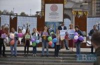 На Майдані у Києві пройшла акція до дня народження політв'язня Дудки