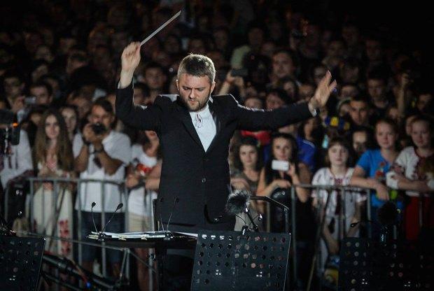 Карабиц во время концерта на Майдане Независимости