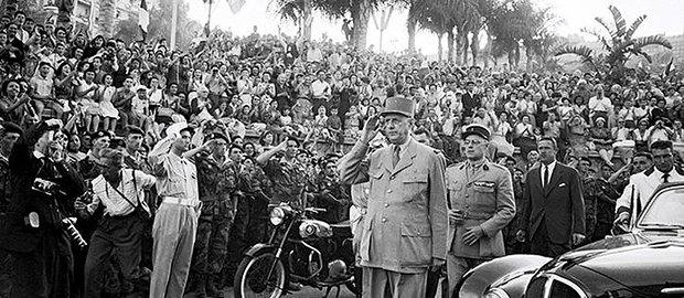 Де Голль в Алжире в 1958 г