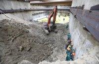 Кличко показав установлення 60-тонного обладнання під час будівництва метро на Виноградар