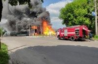 В Житомире загорелась заправка, есть пострадавшие