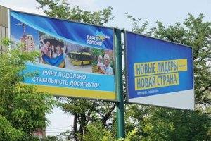 Політсили витратили на зовнішню рекламу 200 мільйонів гривень