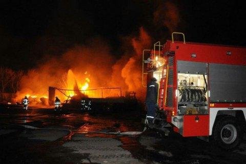 Під час вибуху і пожежі на заправці в Кропивницькому постраждали чотири людини, - ДСНС